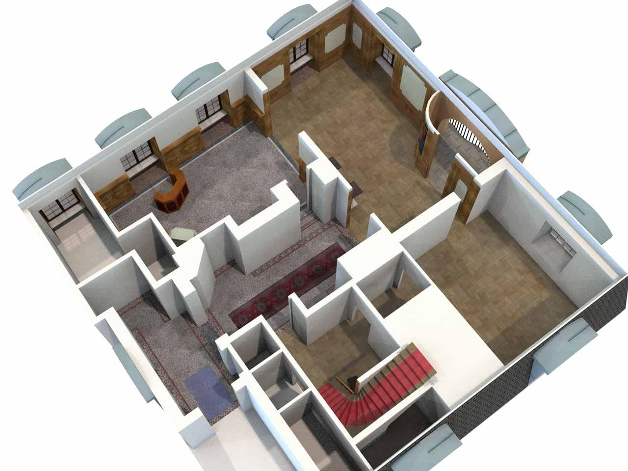 Översikt i 3D, Clustret i Gamla Stan, Nedre plan