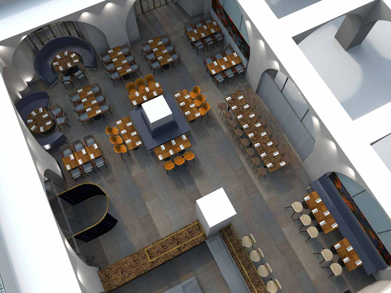 Skiss 100 gäster Artilleriet Festvåning på Östermalm