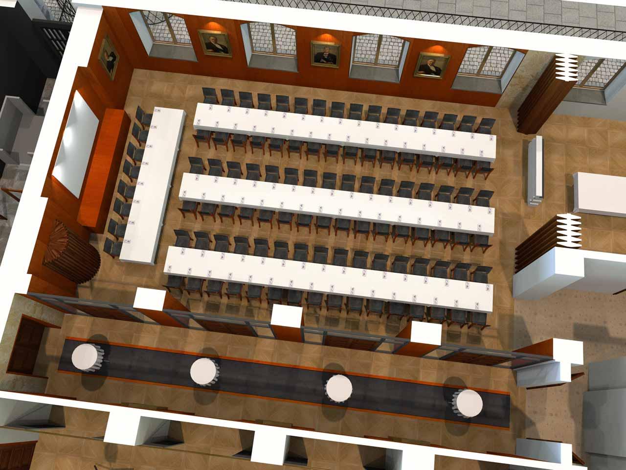 104 gäster Jernkontoret Festvåning i 3D