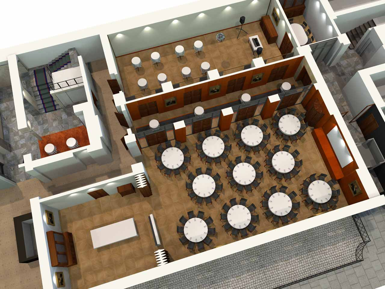 110 gäster Jernkontoret Festvåning i 3D