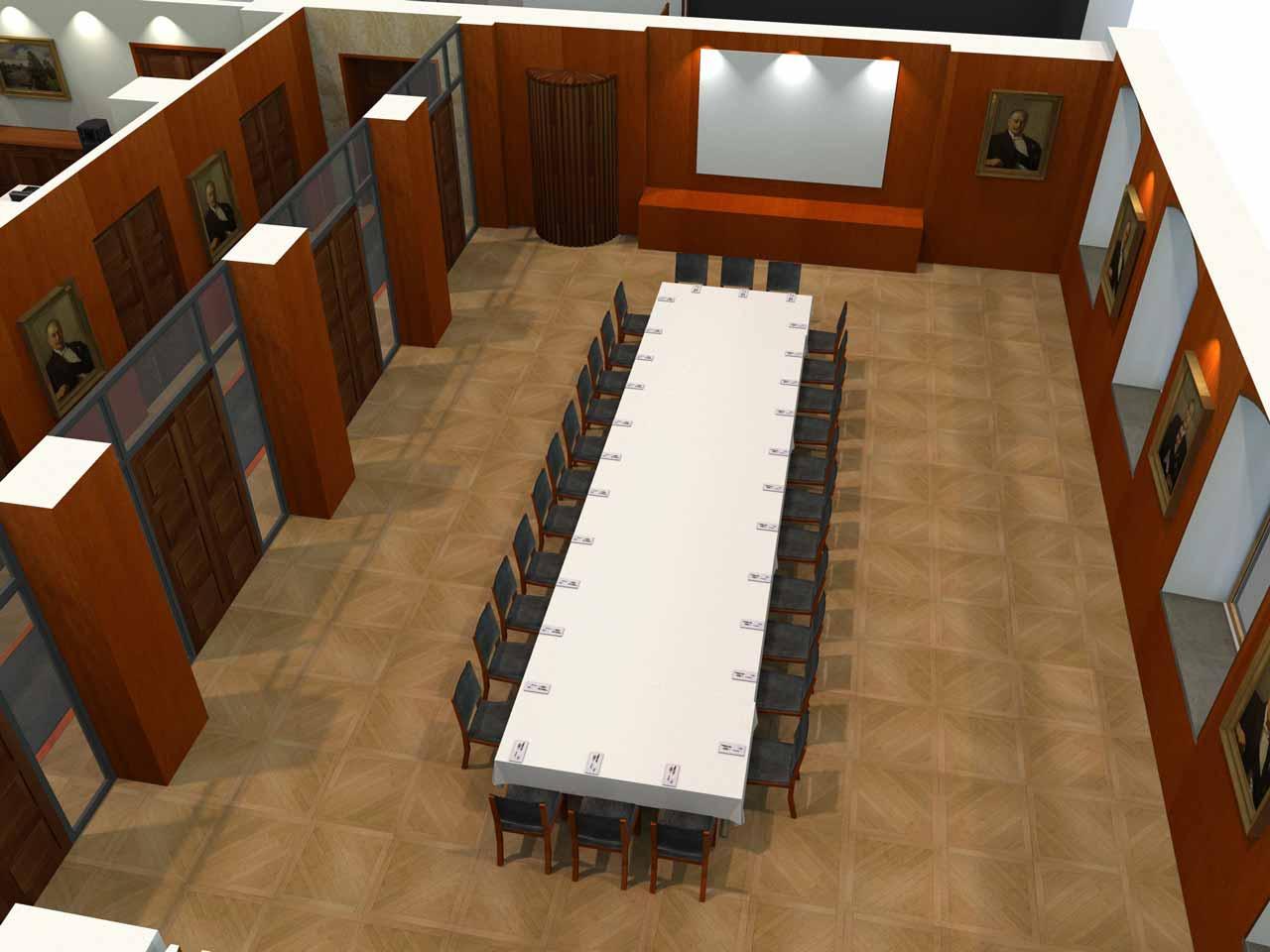 28 gäster Jernkontoret Festvåning i 3D