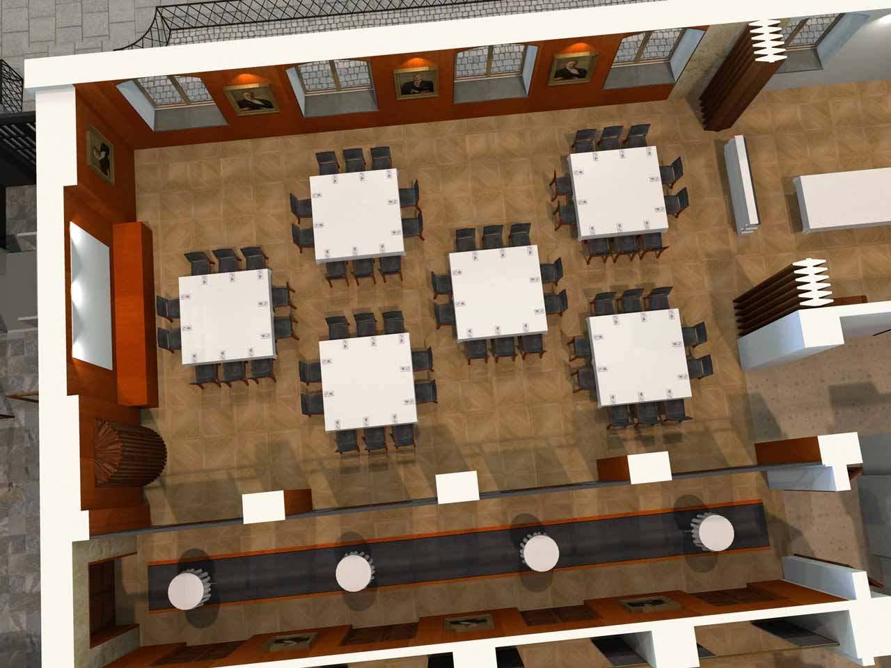 60 gäster Jernkontoret Festvåning i 3D