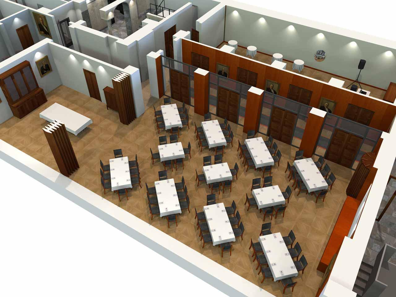 82 gäster Jernkontoret Festvåning i 3D