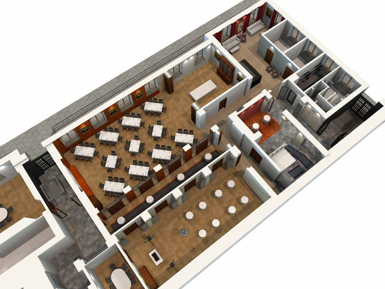 Översikt Jernkontoret Festvåning i 3D