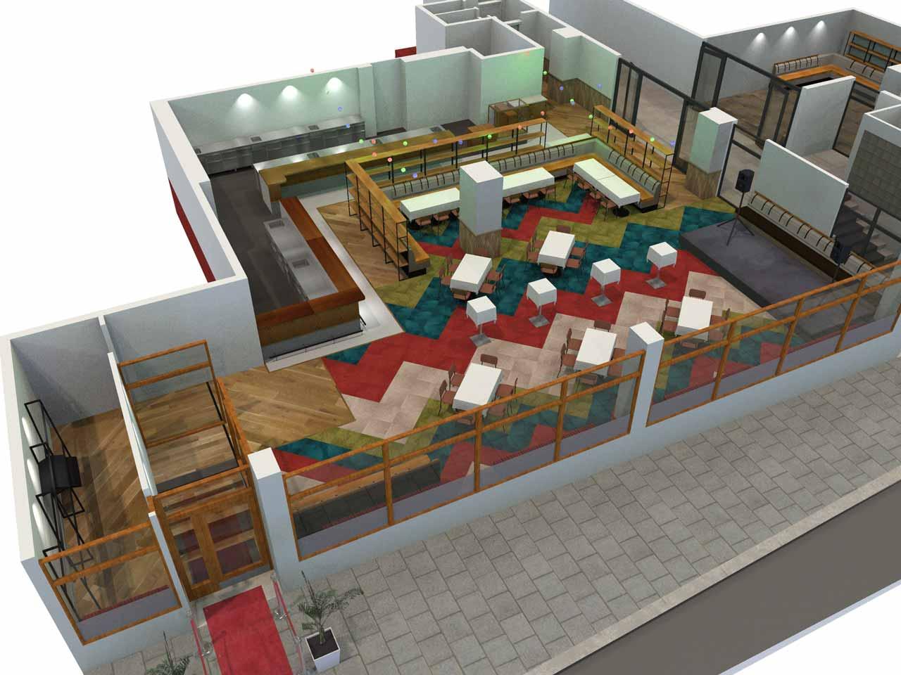 Mingel Matdistriktet i 3D