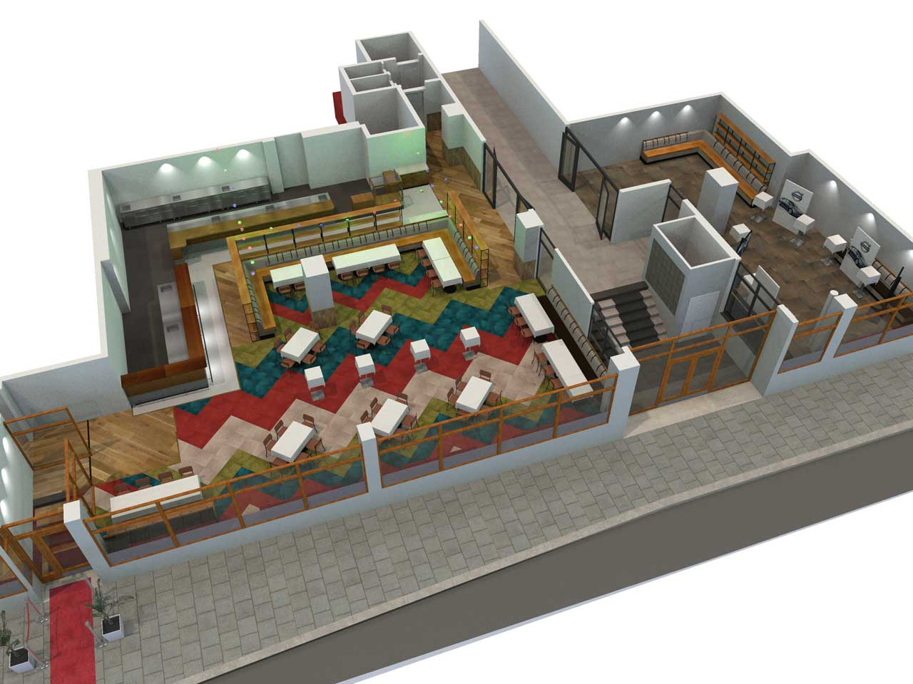 Utställning och mingel Matdistriktet i 3D