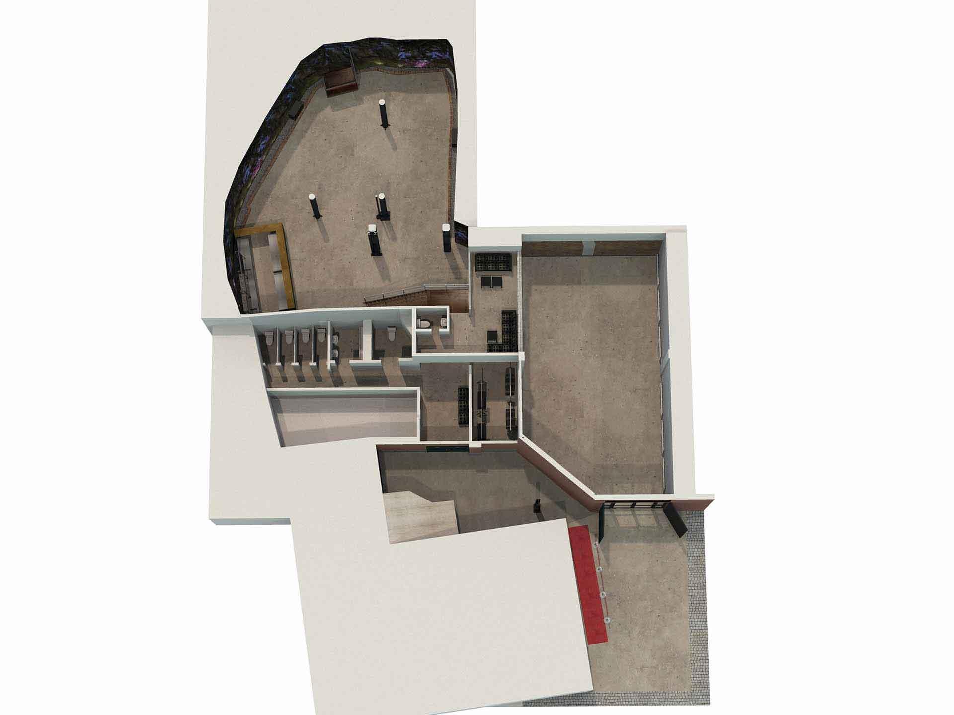 Översikt Skyddsrummet i 3D