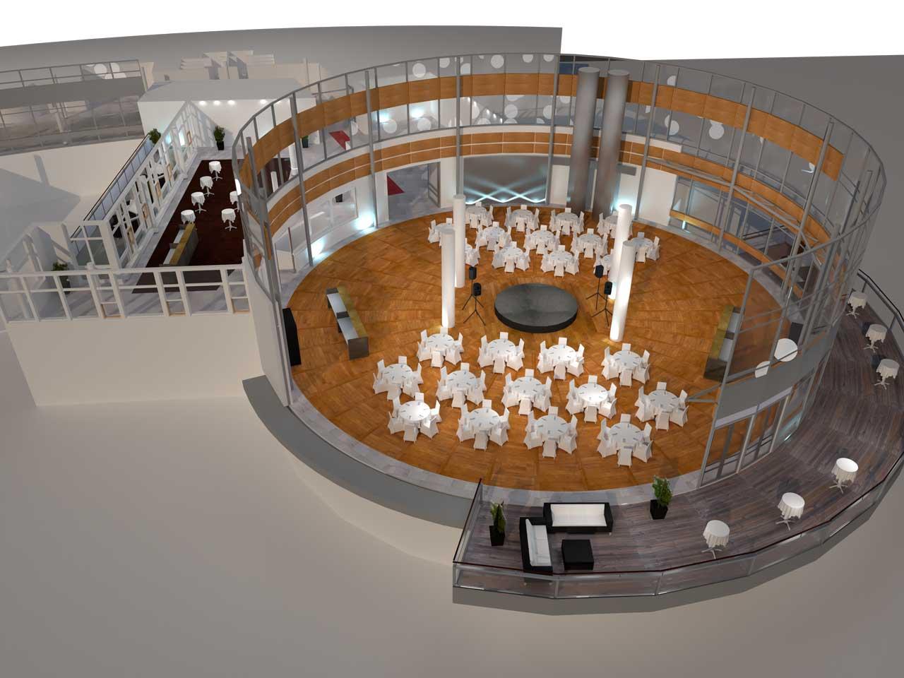 Placeringsskiss, Ursvik Entré Festvåning, 156 middagsgäster