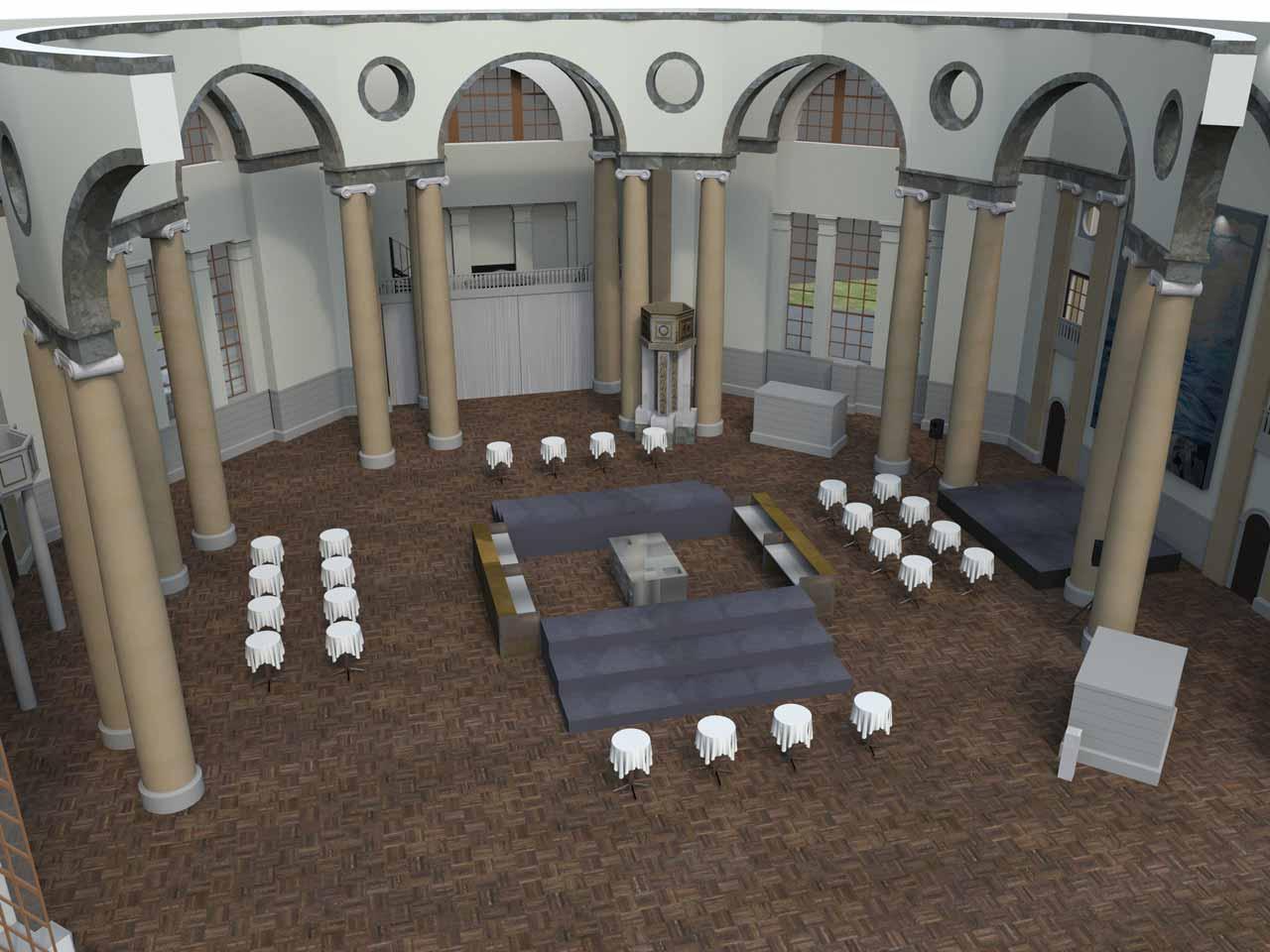 Bar i mitten Eric Ericsonhallen i 3D