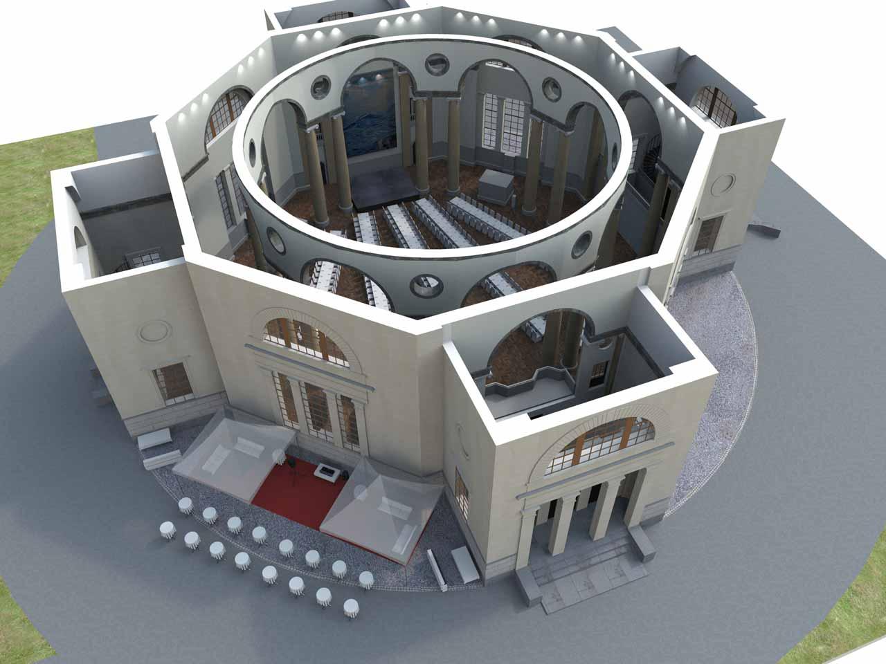 Översikt Eric Ericsonhallen i 3D