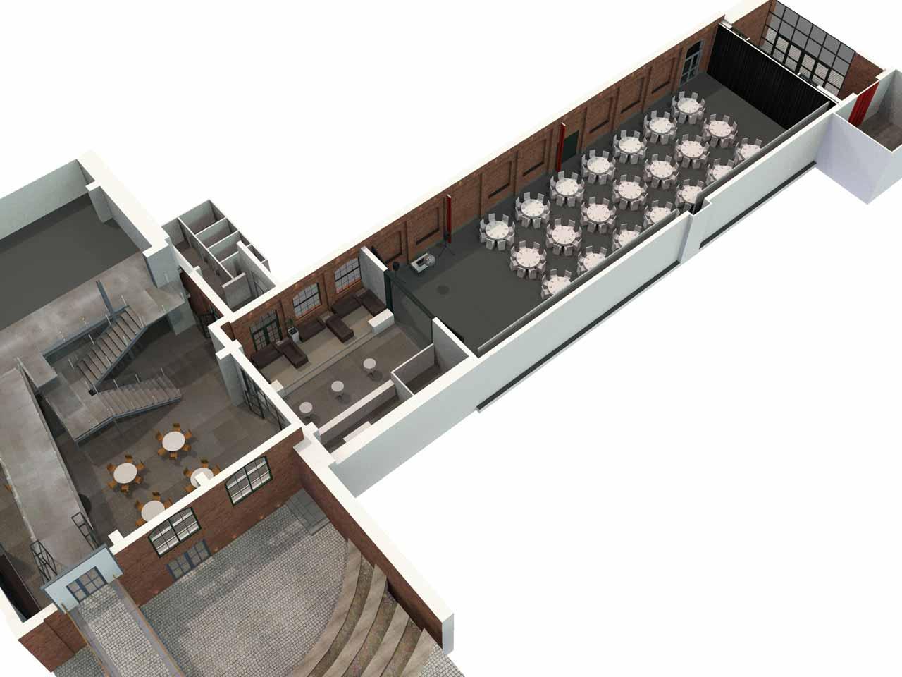 Översikt Lavalhallen i 3D