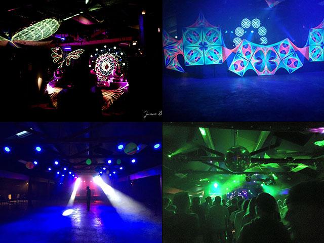 Eventhuset festvåning - Collage lasershow