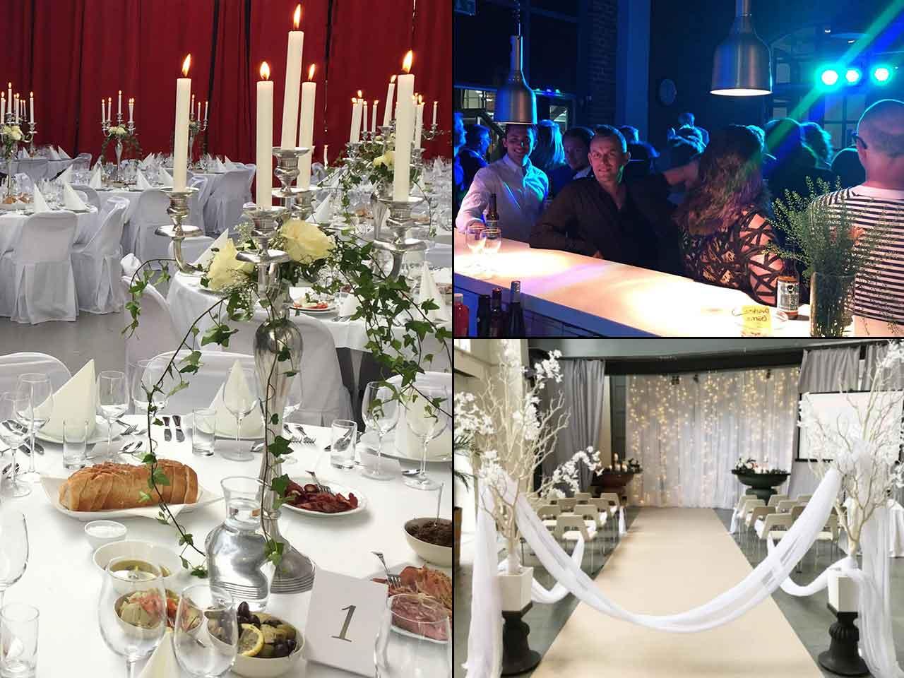 Bröllopsfest på Lavalhallen - collage