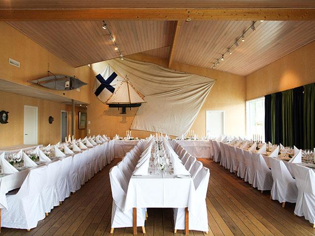 Bröllopsdukning Sjöhuset