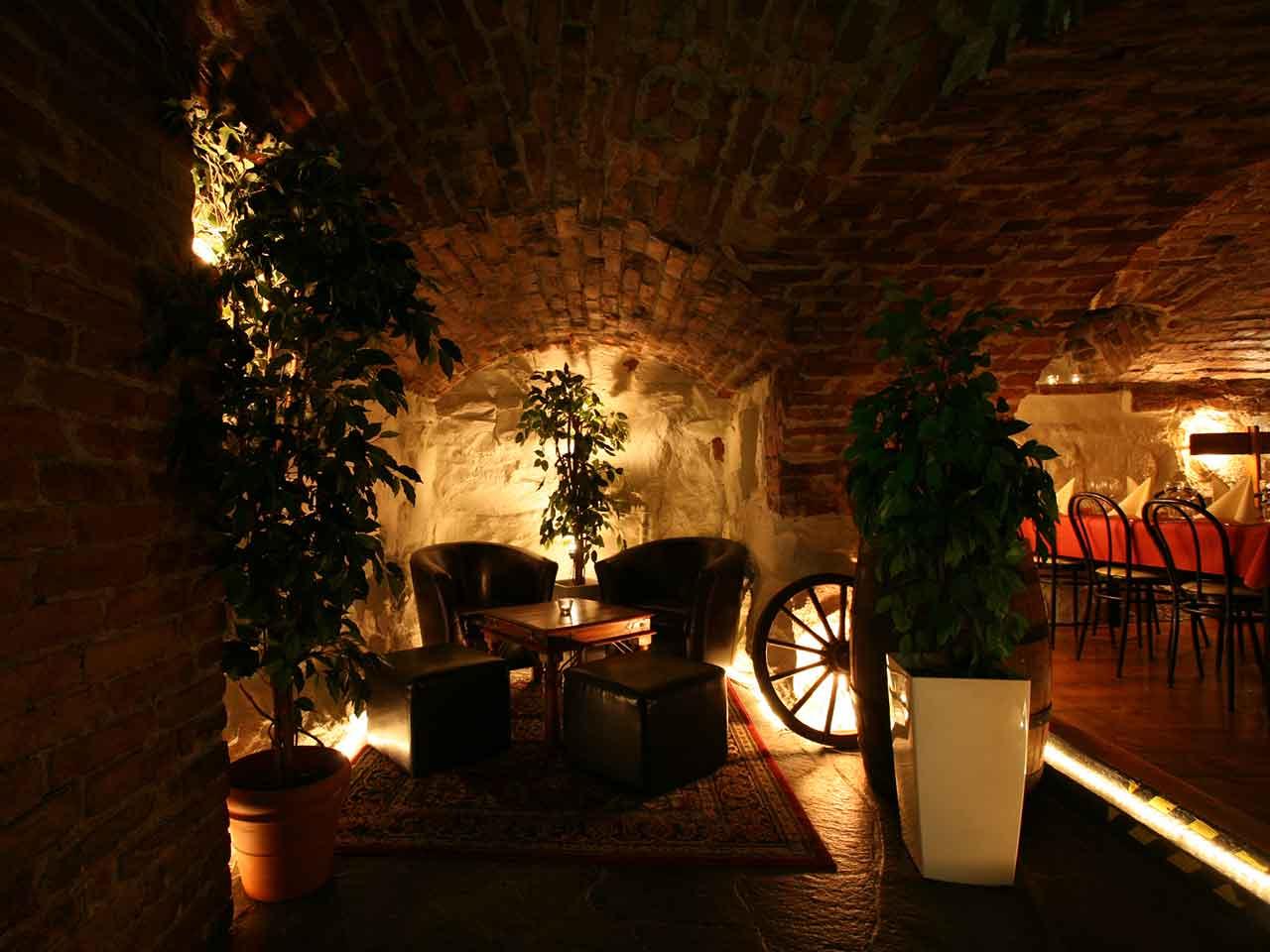 En lounge på En Trappa Ner