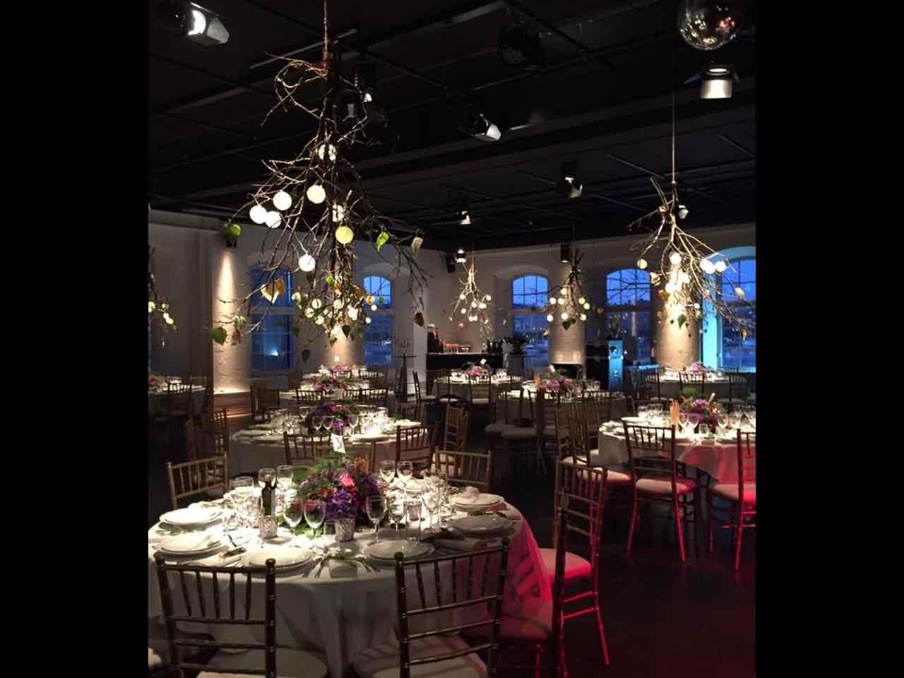 Glasverandan - Dukning vinterbröllop