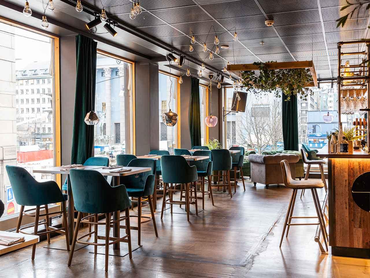 Lokal är en festvåning vid Hötorget - Bar och middagssittning