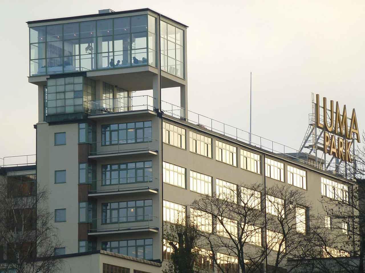 Lumafabriken utifrån - Hammarby Sjöstad