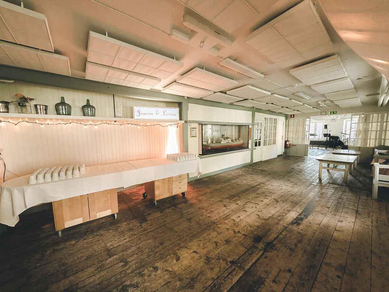 Festlokalen Segelsömmarsalen på Skeppsholmen