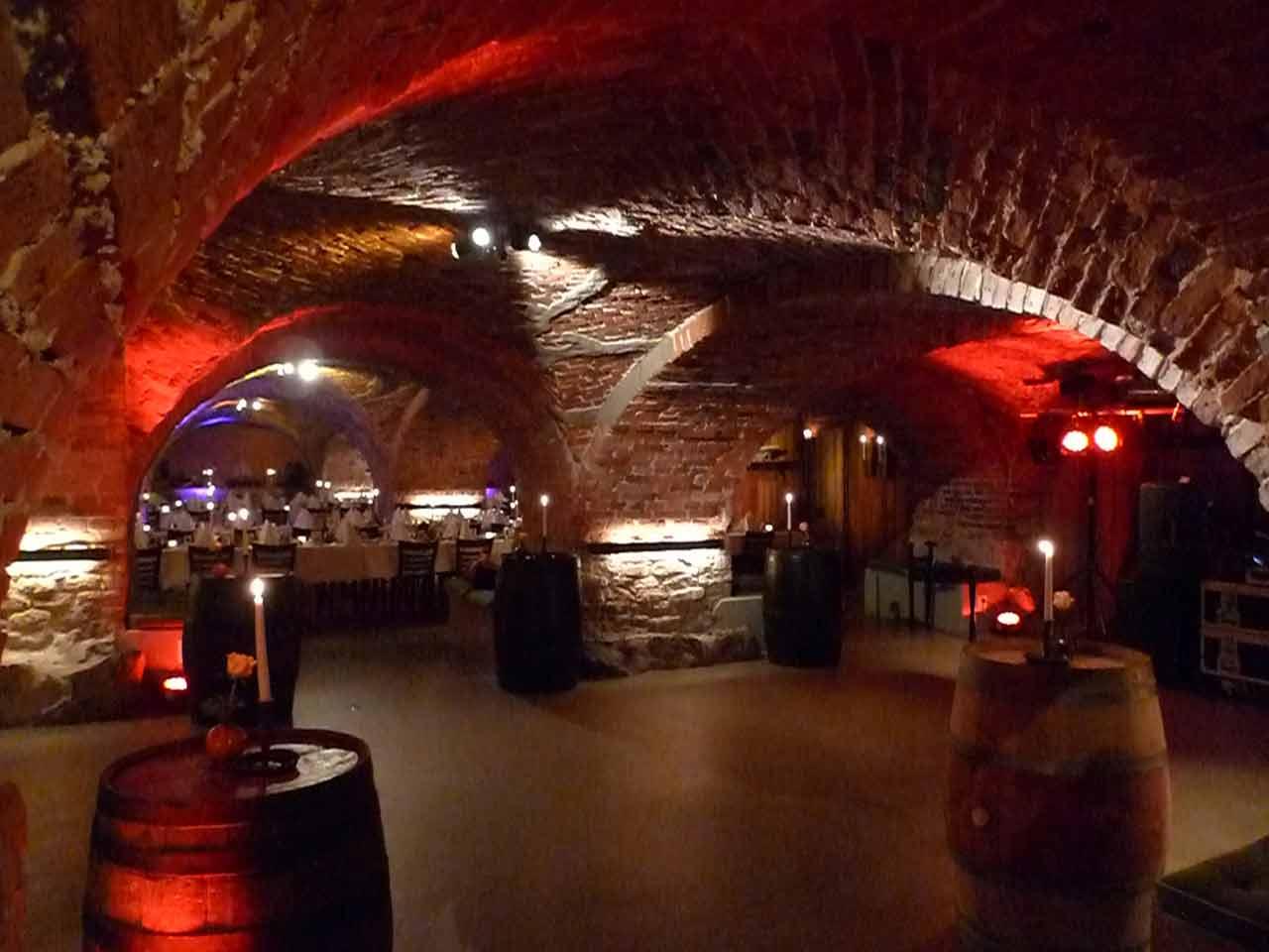 Valvet festlokal på Skeppsholmen